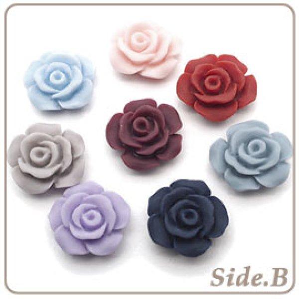 画像1: フラワーカボション・Rose【Antique color】Φ13mm (1)